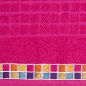 Ručník Mozaik růžová, 50 x 90 cm