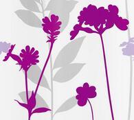 Kleine Wolke sprchový závěs Louka fialová, 180 x 200 cm