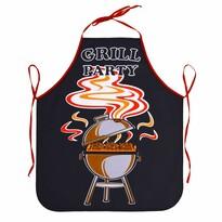 Șorț de bucătărie Grill party negru, 63 x 75 cm
