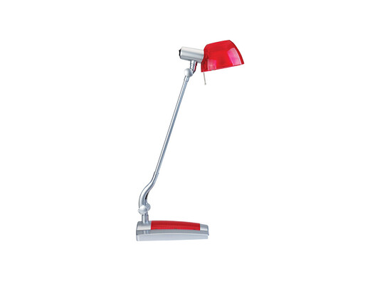 Stolná lampa Ginevra uno, červená