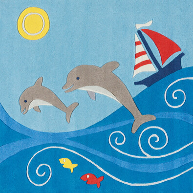 Arte Espina dětský koberec Delfíni,130 x 130 cm