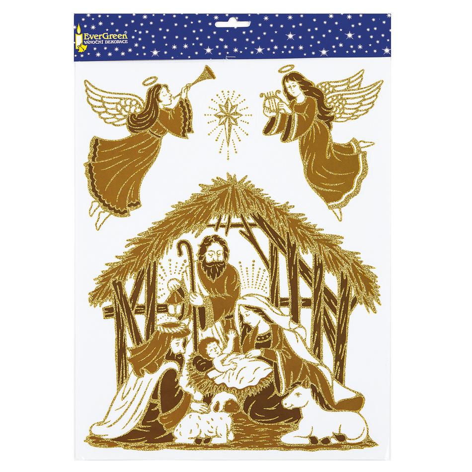 Samolepiaca dekorácia svätá rodina, 2 ks, HTH