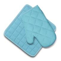 Set Domarex Ollie, mănușă și suport de bucătărie,albastru