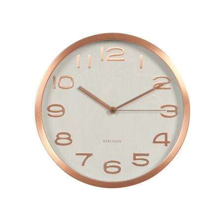 Karlsson KA5578WH Designové nástěnné hodiny, 29 cm