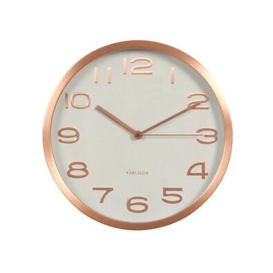 Ceas de perete  cu design Karlsson KA5578WH, 29 cmalb,