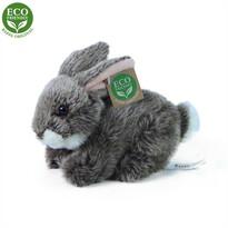 Rappa Plyšový ležiaci králík tmavosivá, 17 cm