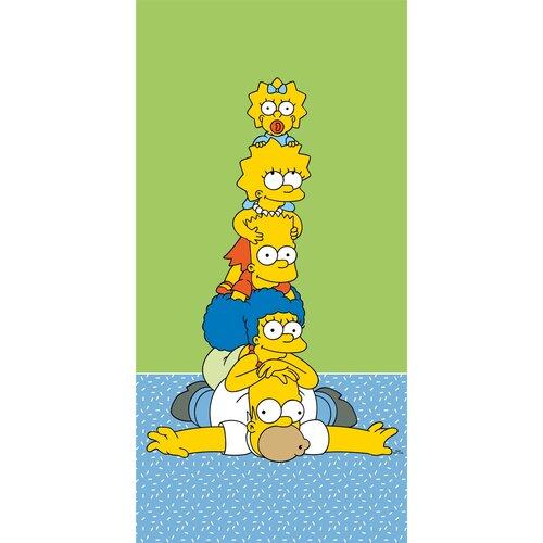 Osuška The Simpsons family tower, 70 x 140 cm