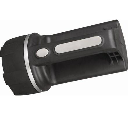 Ruční svítilna gumová RG4D, černá