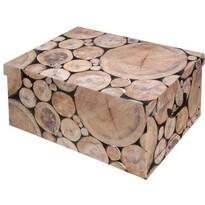 Úložný box s víkem Wood, kuláče