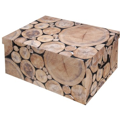Wood tároló doboz fedéllel, rönk