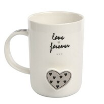 Altom Forever Love porcelánbögre, 360 ml