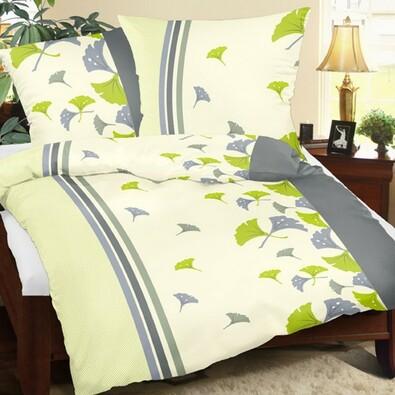 Lenjerie de pat Lucie culoarea verde, 140 x 200 cm, 70 x 90 cm
