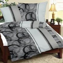 Lenjerie pat 2 pers. Spirale gri, creponată