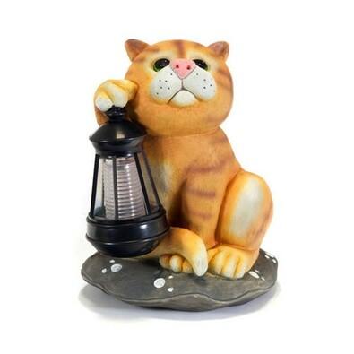 Solární lampa kočka