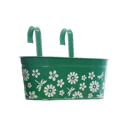 Závesný truhlík Flowers zelená, 33 cm