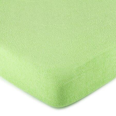 Cearșaf 4Home, din bumbac fin, verde, 90 x 200 cm