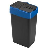 Heidrun Odpadkový kôš 35 l, s modrým pruhom