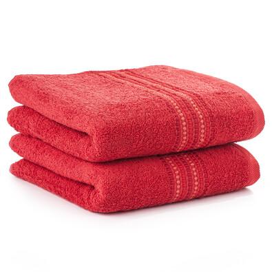 Ručník Verona červená, 50 x 100 cm, sada 2 ks