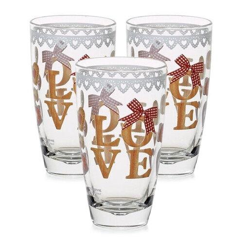 Mäser 3-dielna sada pohárov Love Wood, 370 ml