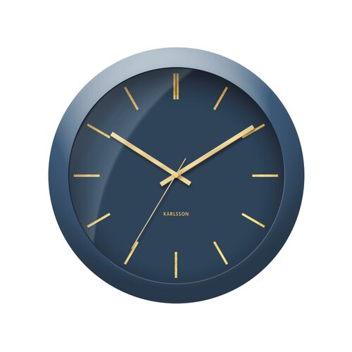 Karlsson KA5840BL Dizajnové nástenné hodiny, 40 cm