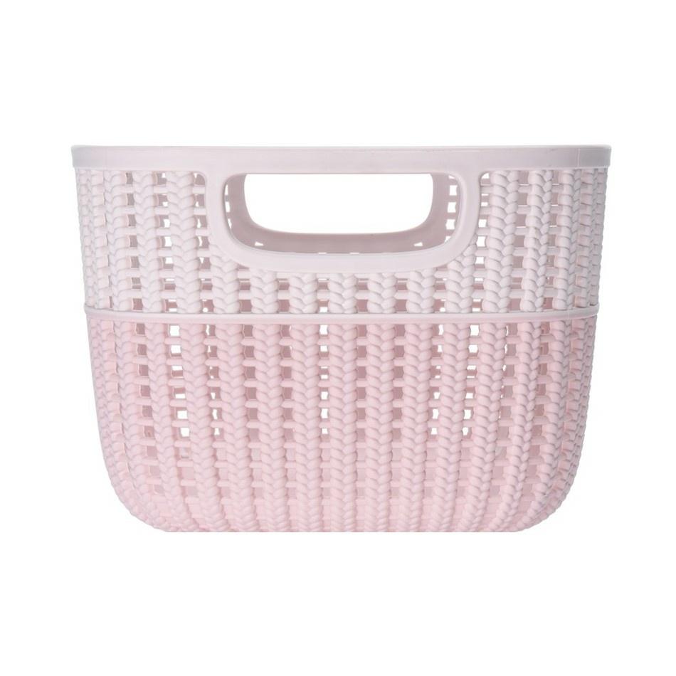 Úložný box Knit, růžová