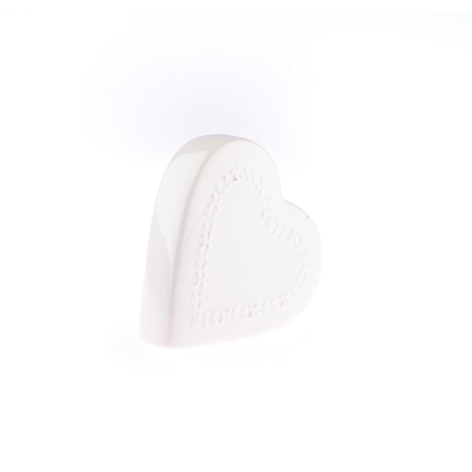 Ceramiczny nawilżacz powietrza My heart, biały