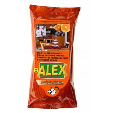 Alex utěrky na čištění nábytku pomeranč