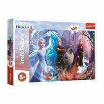 Trefl Puzzle Ľadové kráľovstvo 2 - Mrazivá mágia, 100 dielikov