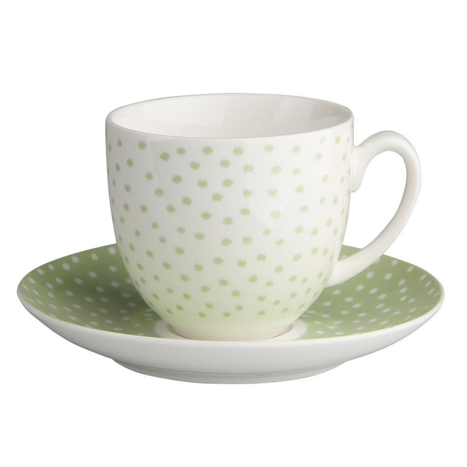 Altom Porcelánový šálek s podšálkem Punto II