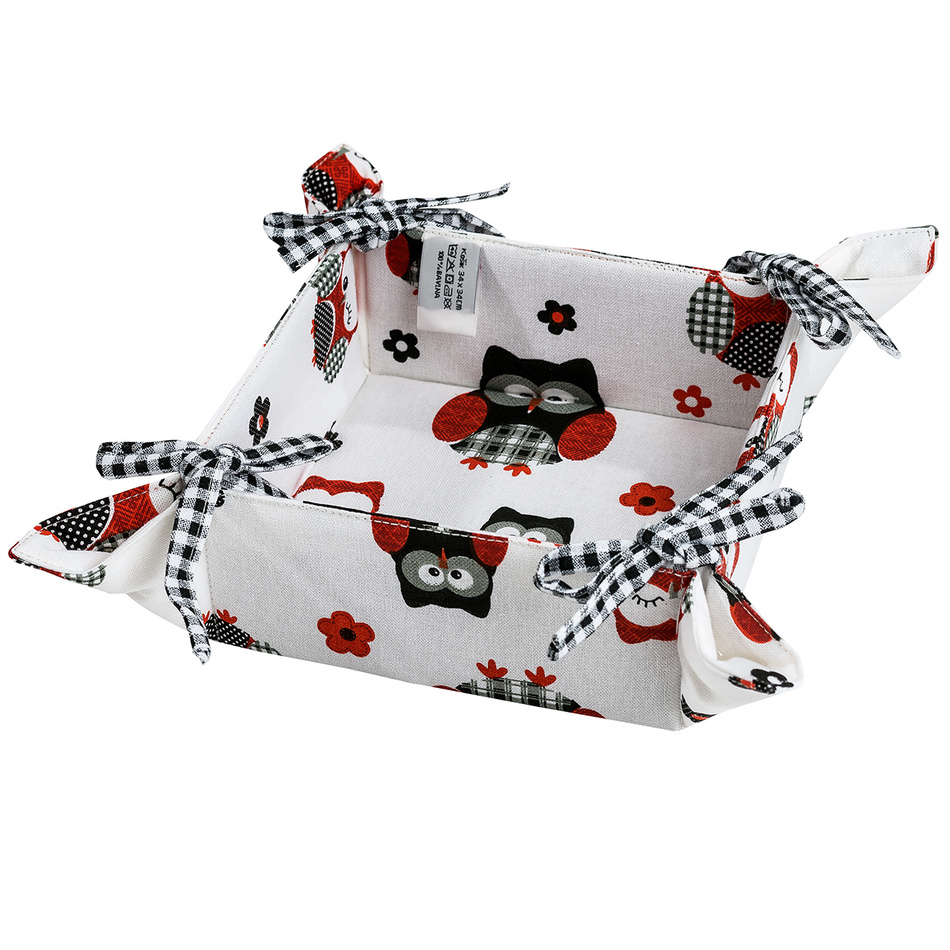 Trade concept Textilní košík Sovy, 34 x 34 cm