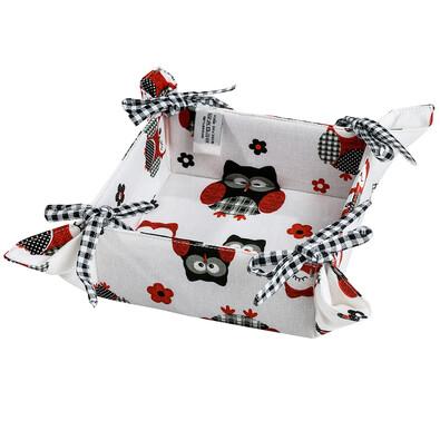 Textilní košík Sovy, 34 x 34 cm