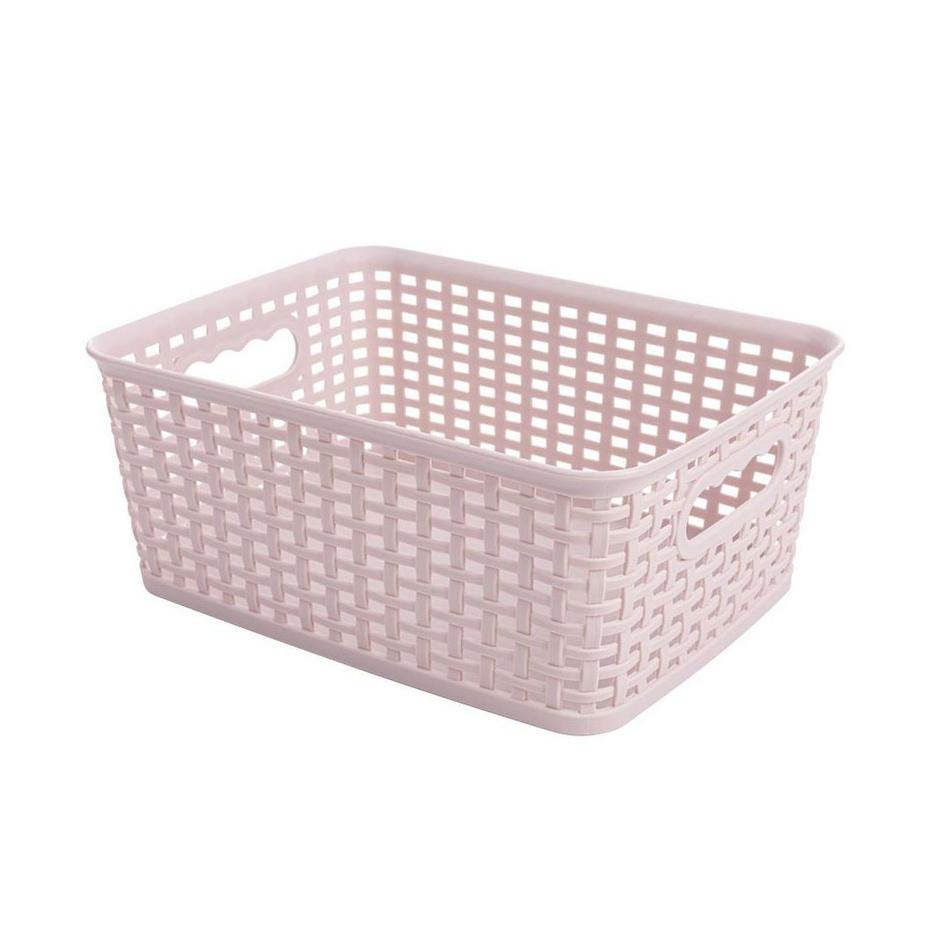 Obdĺžnikový košík RATTAN CLASSIC 4,5 l, ružová