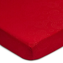 Elisa mikroszálas lepedő, piros