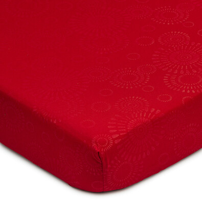 Cearșaf Elisa, microfibre, roșu, 90 x 200 cm