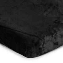 Mikroplüss lepedő fekete, 90 x 200 cm