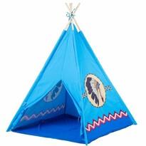 Ecotoys Dětský indiánský stan Teepee, modrá
