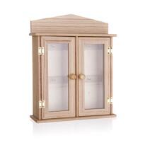 Dřevěná skříňka na klíče, 27 x 27 x 6,5 cm