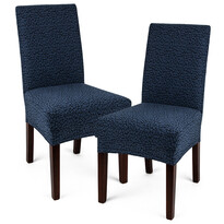 Husă multielastică 4Home Comfort Plus pentru scaun, albastră, 40 - 50 cm, set 2 buc.