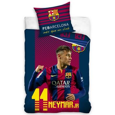 Bavlněné povlečení FC Barcelona Neymar, 140 x 200 cm, 70 x 80 cm