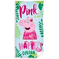 Ręcznik kąpielowy dziecięcy Świnka Peppa Happy, 70 x 40 cm