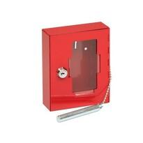 Požární ocelová skříňka se sklem a kladívkem TS.1021.G