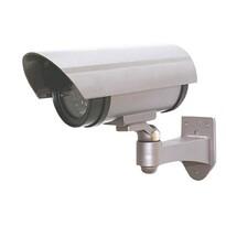 Solight 1D40 Maketa bezpečnostnej kamery na stenu , strieborná
