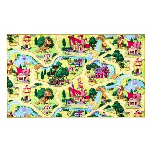 Vopi Detský koberec Rozprávková dedinka, 120 cm, 120 cm
