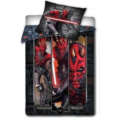 Dětské bavlněné povlečení Star Wars - Darth Maul, 140 x 200 cm, 70 x 80 cm