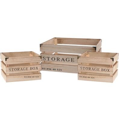 Sada dekoračných úložných boxov NO.856, 3 ks