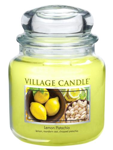 Village Candle Vonná svíčka ve skle, Citrón a pistácie, Lemon Pistachio, 397 g, 397 g