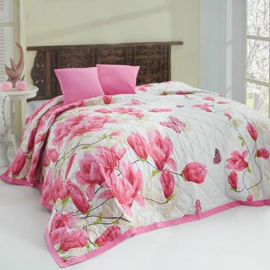 Přehoz Alize pink, 220 x 240 cm, 2x 40 x 40 cm