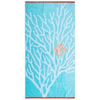 Ręcznik plażowy Glow Fish niebieski, 90 x 170 cm