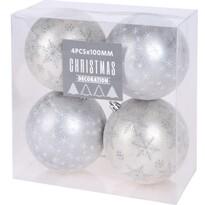Zestaw ozdób świątecznych Pachino, srebrny, 4 szt. śr. 10 cm