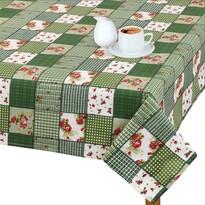 Față de masă Adéla Patchwork verde